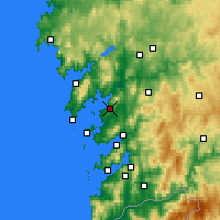 Nearby Forecast Locations - Vilagarcía de Arousa - Map