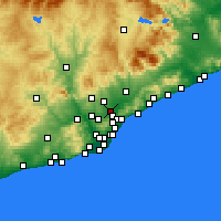 Nearby Forecast Locations - Ripollet - Map