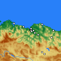 Nearby Forecast Locations - Portugalete - Map