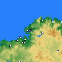Nearby Forecast Locations - Narón - Map