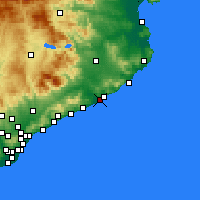 Nearby Forecast Locations - Blanes - Map