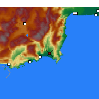Nearby Forecast Locations - Kumluca - Map