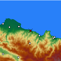 Nearby Forecast Locations - Ünye - Map