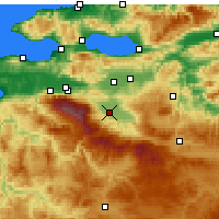 Nearby Forecast Locations - İnegöl - Map