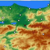 Nearby Forecast Locations - Akyazı - Map