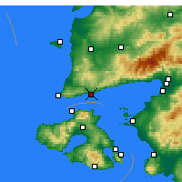 Nearby Forecast Locations - Assos - Map