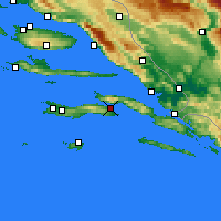 Nearby Forecast Locations - Korčula - Map
