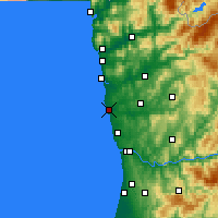 Nearby Forecast Locations - Póvoa de Varzim - Map
