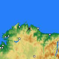 Nearby Forecast Locations - Viveiro - Map