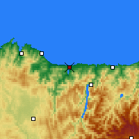 Nearby Forecast Locations - Ribadeo - Map