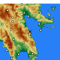 Nearby Forecast Locations - Paralia - Map