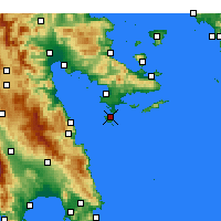 Nearby Forecast Locations - Spetses - Map