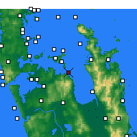 Nearby Forecast Locations - Orere Point - Map