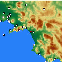 Nearby Forecast Locations - Salerno - Map