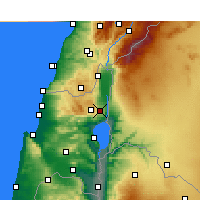 Nearby Forecast Locations - Rosh Pinna - Map