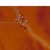 Nearby Forecast Locations - Ciudad Juárez - Map