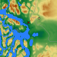 Nearby Forecast Locations - Puerto Natales - Map