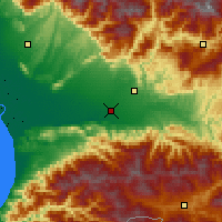 Nearby Forecast Locations - Kutaisi - Map
