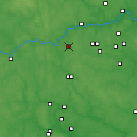 Nearby Forecast Locations - Kubinka - Map