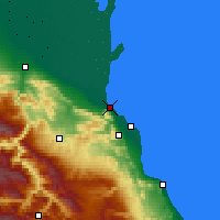 Nearby Forecast Locations - Makhachkala - Map