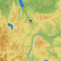 Nearby Forecast Locations - Uzhur - Map