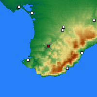 Nearby Forecast Locations - Bakhchysarai - Map