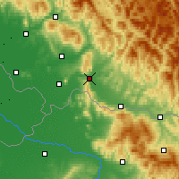 Nearby Forecast Locations - Khust - Map