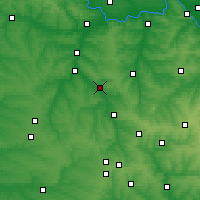 Nearby Forecast Locations - Kostiantynivka - Map