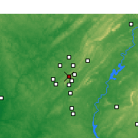 Nearby Forecast Locations - Homewood - Map