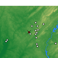 Nearby Forecast Locations - Hueytown - Map