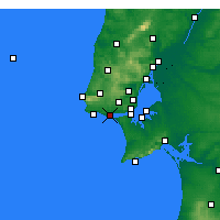 Nearby Forecast Locations - Oeiras - Map