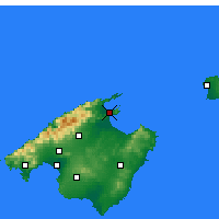 Nearby Forecast Locations - Alcúdia - Map