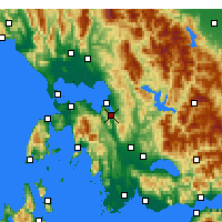 Nearby Forecast Locations - Amfilochia - Map