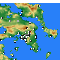 Nearby Forecast Locations - Drosia - Map