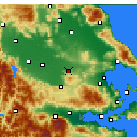 Nearby Forecast Locations - Farsala - Map