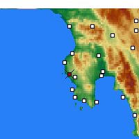 Nearby Forecast Locations - Gargalianoi - Map