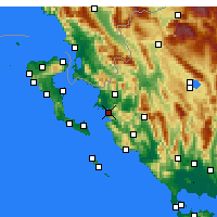 Nearby Forecast Locations - Igoumenitsa - Map