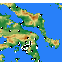 Nearby Forecast Locations - Kalamos - Map