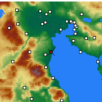 Nearby Forecast Locations - Korinos - Map