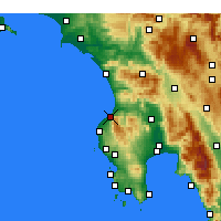 Nearby Forecast Locations - Kyparissia - Map