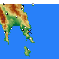 Nearby Forecast Locations - Monemvasia - Map