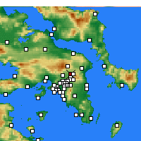 Nearby Forecast Locations - Nea Erythraia - Map