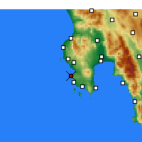 Nearby Forecast Locations - Pylos - Map