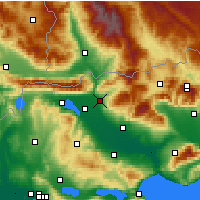 Nearby Forecast Locations - Sidirokastro - Map