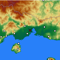 Nearby Forecast Locations - Vistonida - Map