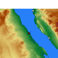 Nearby Forecast Locations - Ras Gharib - Map