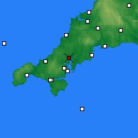 Nearby Forecast Locations - Truro - Map