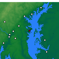 Nearby Forecast Locations - Annapolis - Map