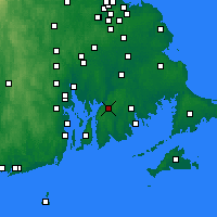 Nearby Forecast Locations - Fall River - Map