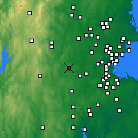 Nearby Forecast Locations - Marlborough - Map